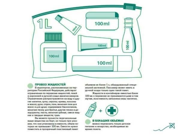 Правила провоза жидкости